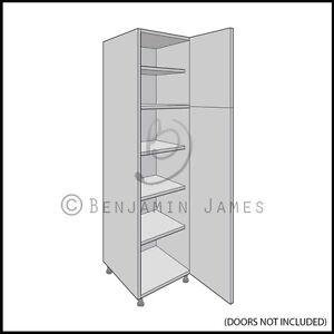 Kitchen carcass unit tall larder cabinet 2150 high for Tall kitchen drawer unit