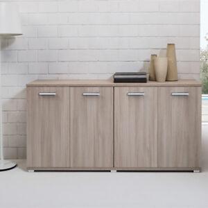 Credenza Per Cucina Moderna.Dettagli Su Credenza Buffet Olmo 180 Cm Cucina Mobile Multiuso Moderno Con 4 Ante Armadio