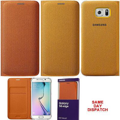 reputable site 067e3 8352d Genuine Samsung FLIP CASE GALAXY S6 EDGE smartphone book cover original  wallet | eBay