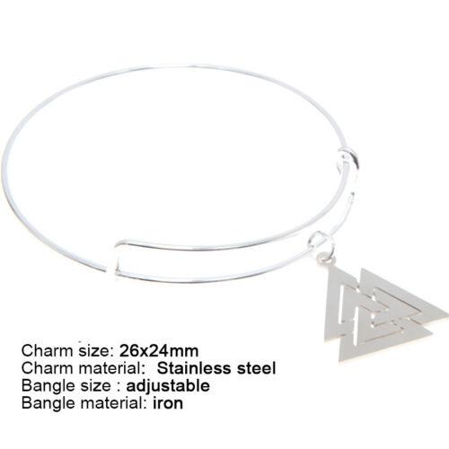 Valknut Jewelry set Viking Symbol Nordic Necklace Bangle Kerying Earring Ankle
