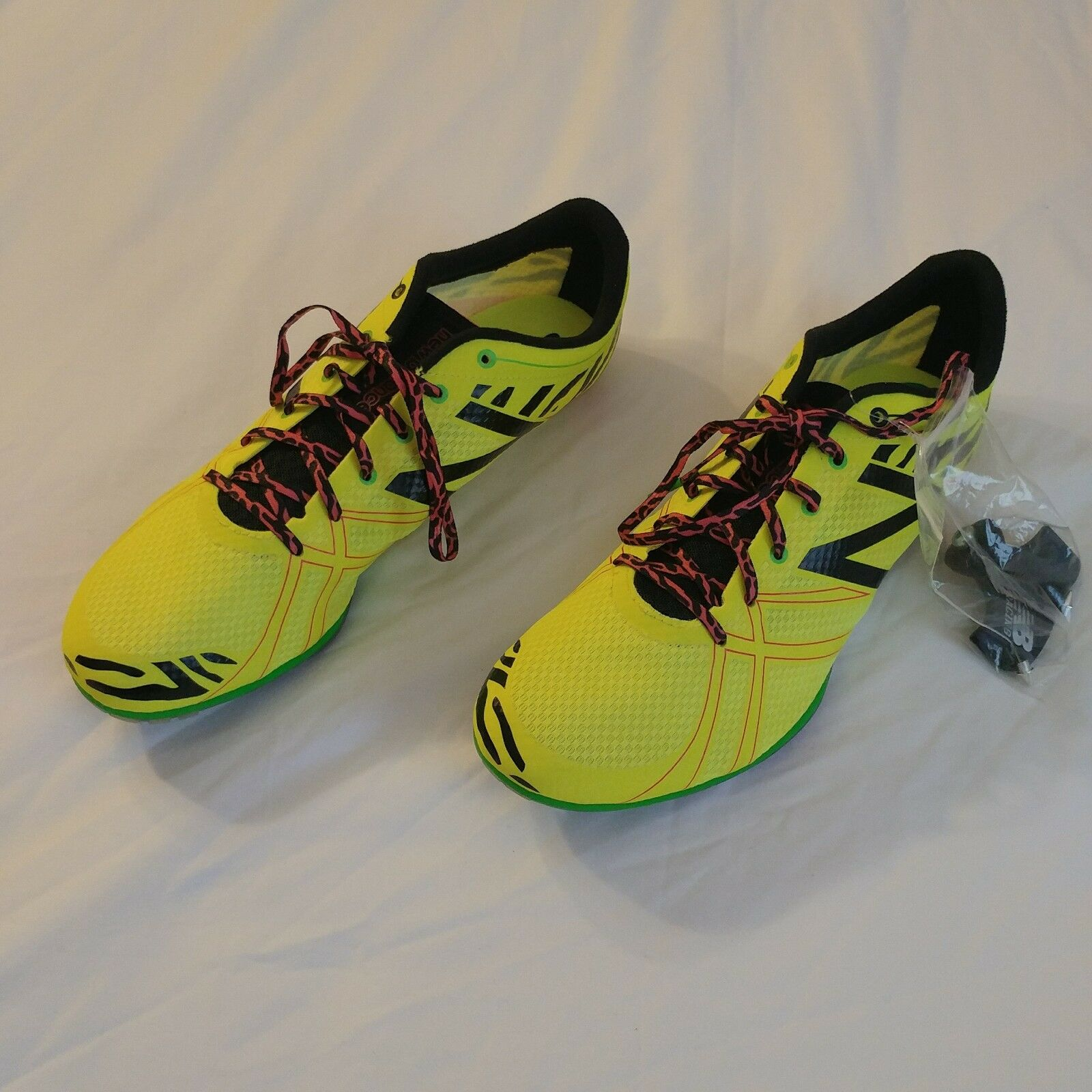 New Balance Womens WMD500H3 Sz Running Spike Yellow Shoes Sz WMD500H3 12 edc2f6