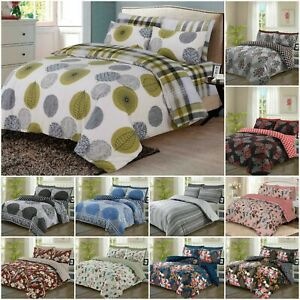 Duvet-Cover-Set-Quilt-Bedding-With-Pillowcases-amp-Fitted-Sheet-Double-King-Size
