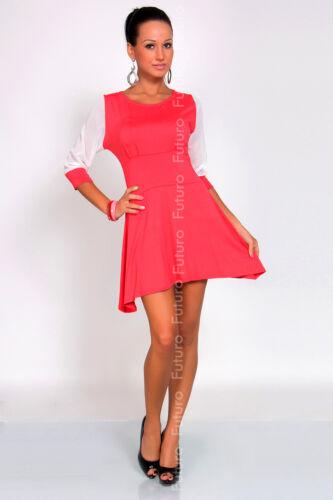 Women/'s Mini Dress Asymmetric Hem 3//4 Sleeve Boat Neck Tunic Size 8-12 8487