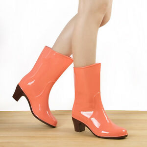 Beautiful Rainshoes womens Rain boots high heel boots waterproof ...