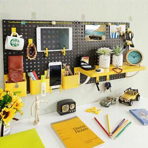 Hole-board-Wall-shelving-free-punch-black-amp-yellow-40cm-80cm