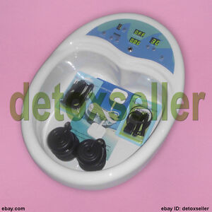 Premium-Detox-Tub-Foot-Bath-Spa-Ionic-Cleanse-Salon-Machine-Acupuncture-Pads