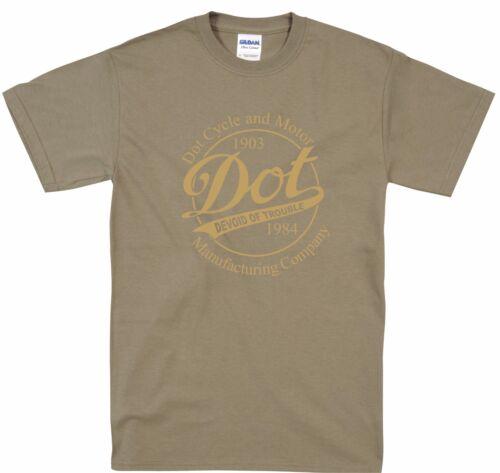 Dot Motorcycle Tribute Vintage Retro Style Classic Biker T Shirt S-5XL
