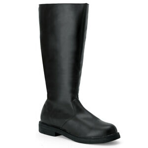 Funtasma-CAPTAIN-100-Men-039-s-Black-Santa-Super-Hero-Pirate-Costume-Knee-High-Boots