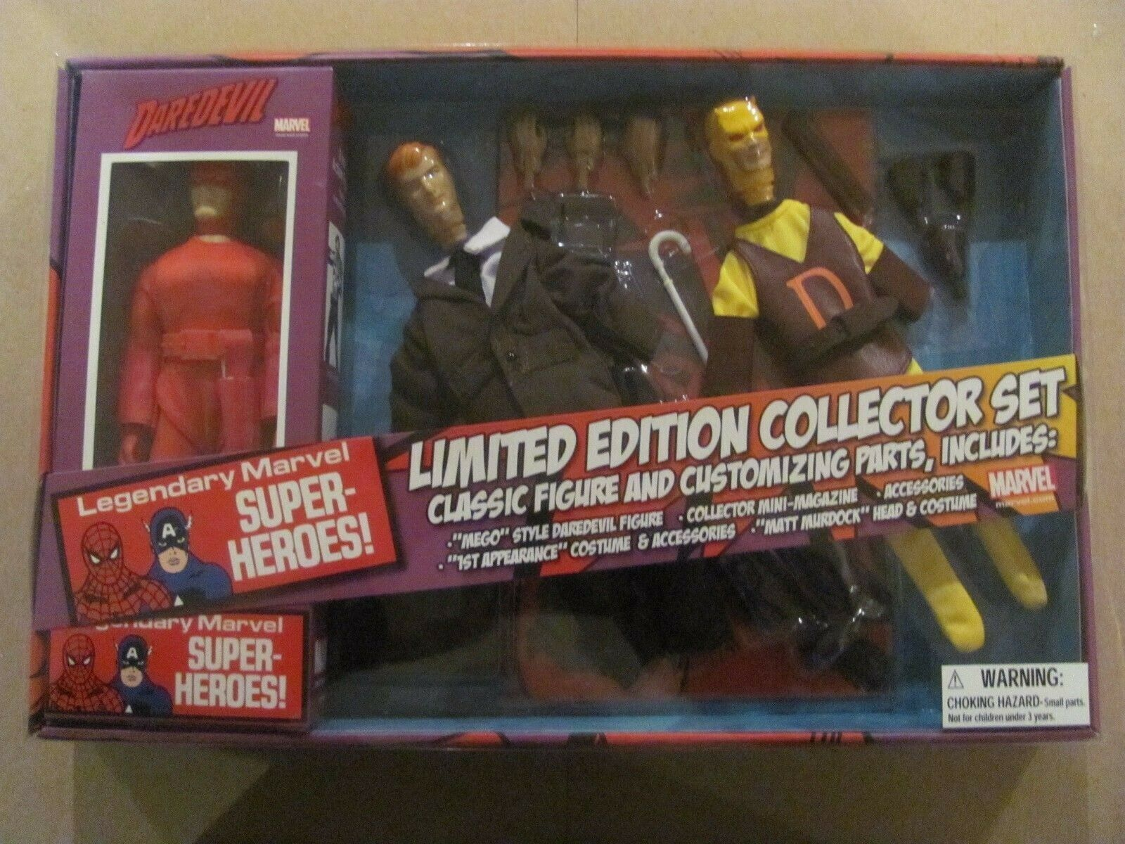 Daredevil Limited Edition 8-Inch Retro Action Figure Set Marvel Legendary Heroes