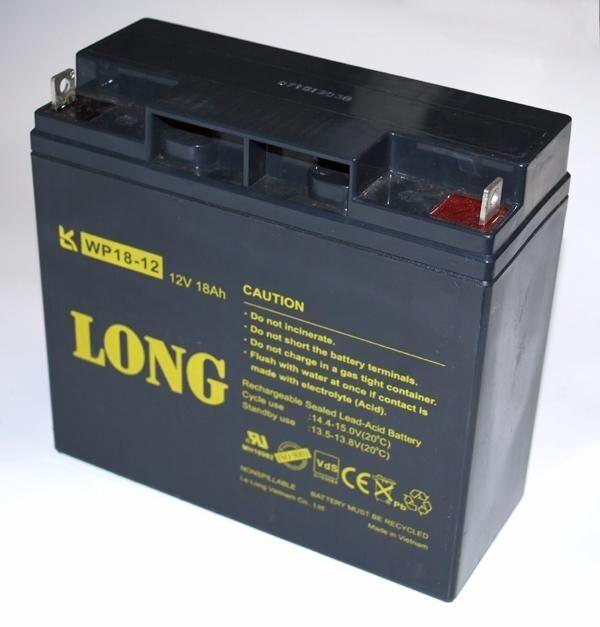 Long Blei Gel-Akku 12V 18Ah 17Ah WP18-12 USV WP18-12SHR neue Version  Notstrom