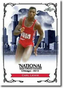CARL-LEWIS-2013-LEAF-NATIONAL-EXCLUSIVE-COLLECTORS-PROMO-CARD