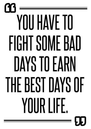 Motivational inspirational quote positive life poster picture print wall art 315