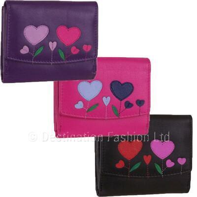 Mala Leather Flapover Heart Pinky Coin Purse