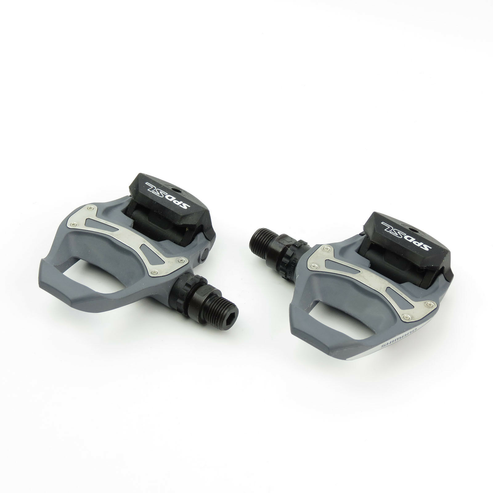 Shimano PD-R550 SPD-SL Road Bike Bicycle Pedals + SM-SH11 Cleats - Grau