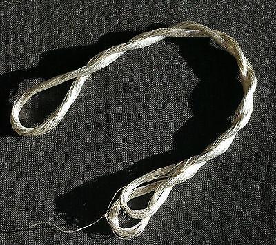 broderie orfèvrerie 0.5 mm épais 20 mètres écheveau de soie Japonais Véritable fil d/'argent