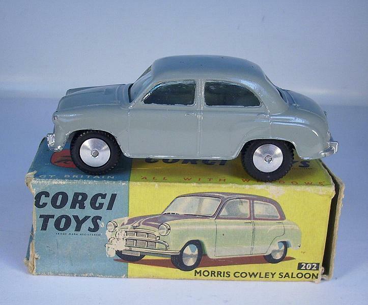 CORGI TOYS 202 Morris Cowley Saloon gris En parfait état, dans sa boîte neuf dans sa boîte  197