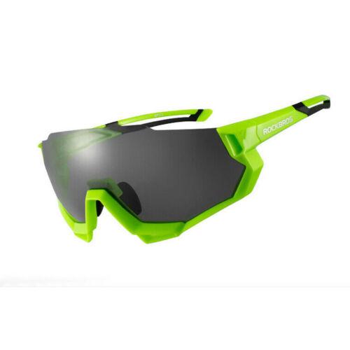 Rockbros 10133 Fahrradbrille Sportbrille mit polarisierten 5 Wechselgläsern grün
