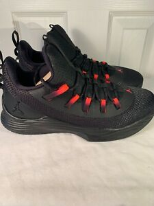 huge selection of 161d3 a30bb Details about Men's Air Jordan Ultra Fly 2 Low Shoes Black/Infrared 23  AH8110 023 Size 11
