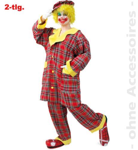 Fri Herren Kostüm Clown 2-teilig mit Mütze Karneval Fasching