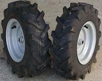 2) 480-8 4.80-8 480x8 4.80x8 Tire Rim Wheels Garden Tiller Snow Blower Thrower
