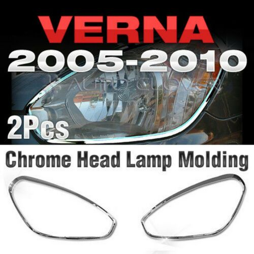 Verna Chrome Headlight Lamp Garnish Molding A778 For HYUNDAI 2005-2010 Accent