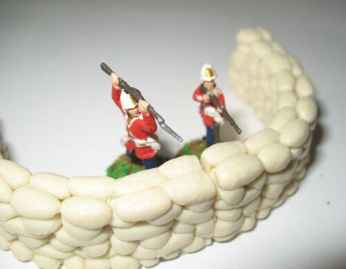 1//72 Modèle Britannique Zulu War mealie sacs de sable jeux de guerre rorkes Drift murs taille 2