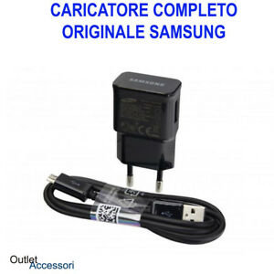 Presa-Trasformatore-Cavo-Micro-Originale-Samsung-Nero-USB-2A-5V-ETA-U90EBE-Jack
