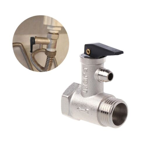 """Brass G1//2/"""" DN15 0.7mpa Pressure Safety Relief Valve For Electric Water Heater"""