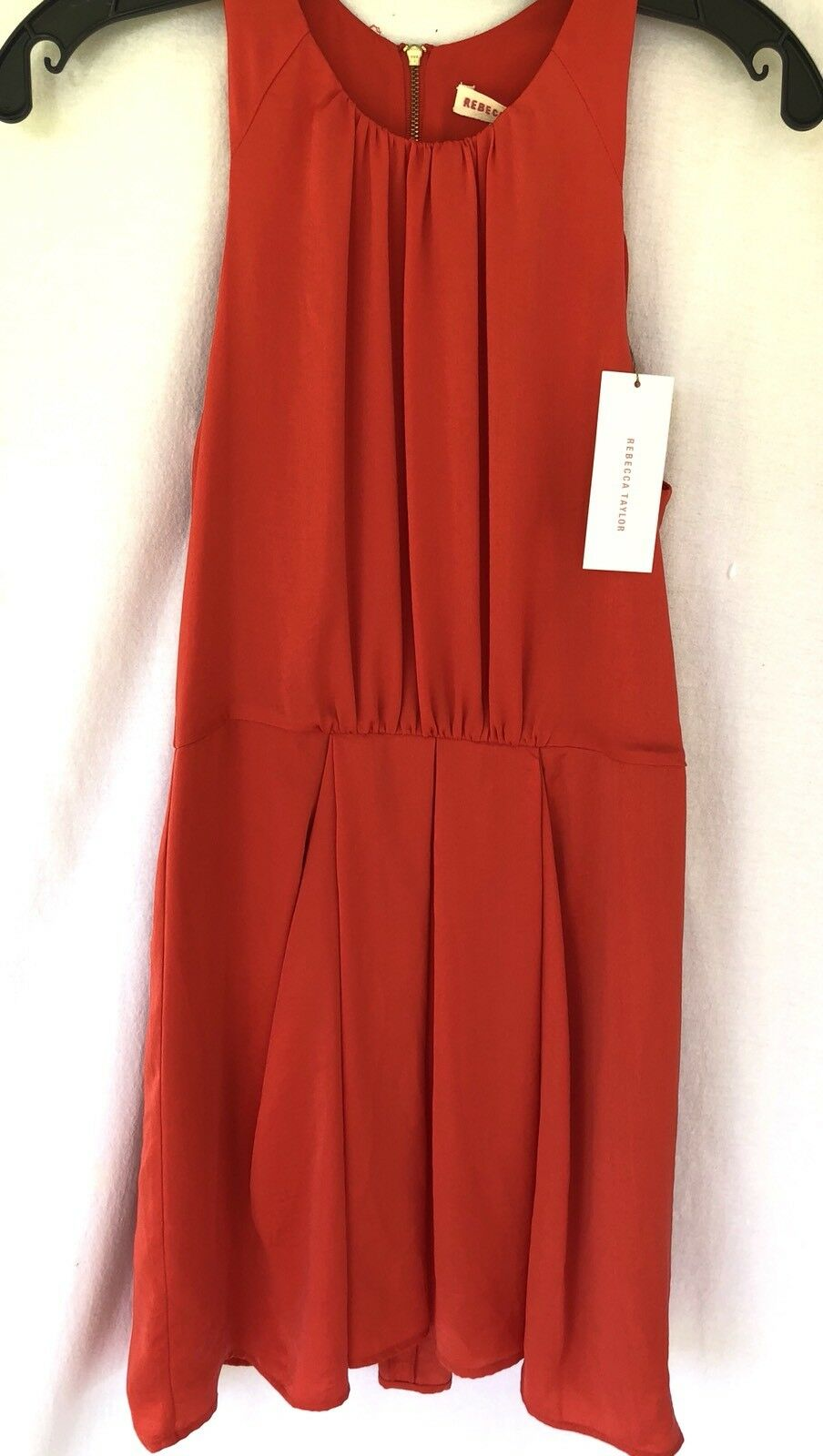 New New New Rebecca Taylor Red Dress Size 4 MSRP  295 Fit Flare Gorgeous 2fd0ac