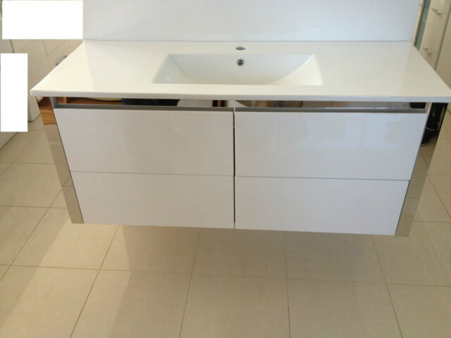 NEW 1200mm x 460mm Wall Hung Bathroom vanity unit