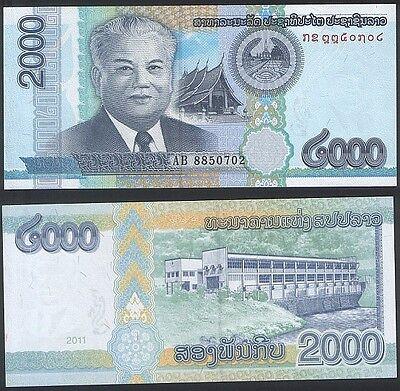 Motivated Laos Lao P 41 - 2000 Kip 2011 - Unc
