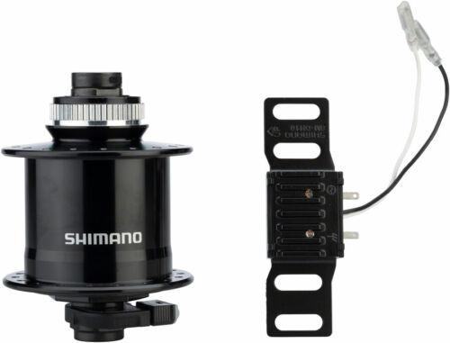 Shimano DH-UR705-3D Dynamo Centerlock Disc Front Hub Black