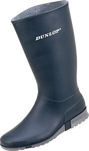 1612-Moderner-Damen-Gummistiefel-Dunlop-Sport-blau-Gartenstiefel-PVC-Stiefel-NEU