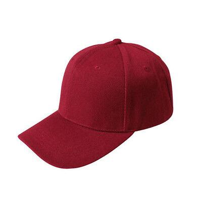 Stylish Men Women' s Plain Baseball Cap Blank Adjustable Solid Hat Curved Visor