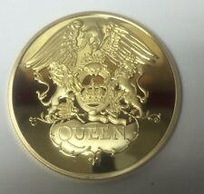 Freddie Mercury QUEEN  POP & ROCK MUSIC 24K GOLD  PLATED MEMORABILIA COIN RARE