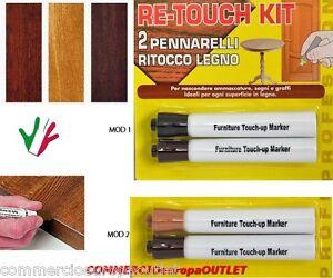 Pennarelli ritocco legno pennarello 2 pz parquet graffi for Kit riparazione parquet