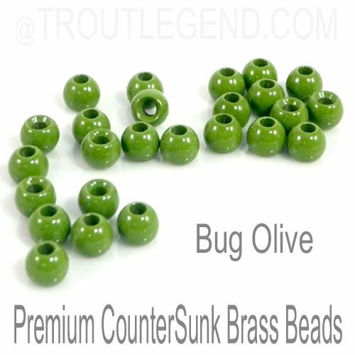 TroutLegend Brass RegularBore//Cyclops Beads Fly Tying 16 Colors x 7 Sizes