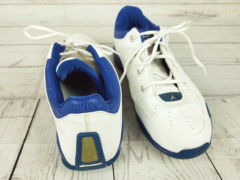 nike  jordan 2005 blue/white 20 20 blue/white year anniversary basketball shoes sz 10 sneaker 665122