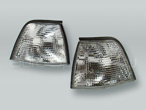 TYC-Clear-Corner-Lights-Parking-Lamps-PAIR-fits-1992-1998-BMW-3-Series-E36-4DR