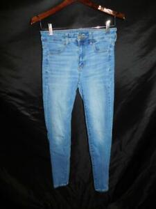 American Eagle Size 6 Hi Rise Jegging Blue Jeans Next Level Stretch Denim AEO 6R