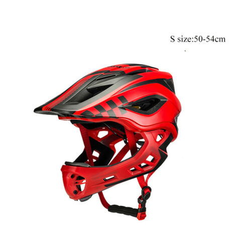 RockBros Children Cycling Breathable Removable Full Helmets with Rain Cover