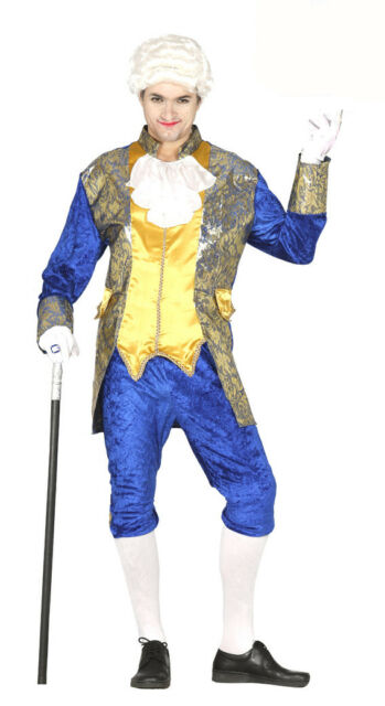 Mens Versailles Costume Fancy Dress Georgian Red or Blue Outfit 38-46 Inch NEW