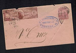 1895-Hidalgo-Mexico-Express-Mail-Cover-Veracruz