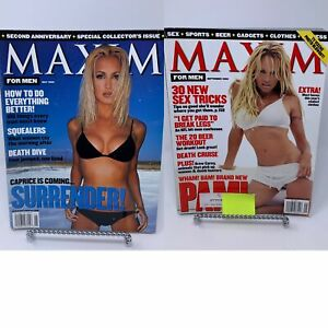 Lot of 2 Maxim Magazines May 1999 , Sept 1999 Pam Anderson
