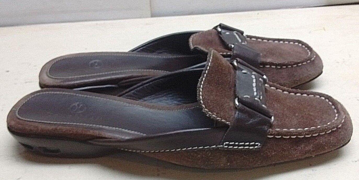 Cole Haan Nikeair Women's Leather Brown Mule Clog Slide Sandal Casual shoes 7 B