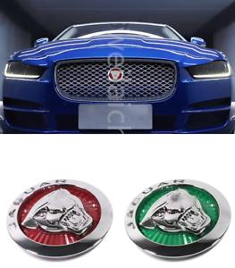 Car Front Grilled Star Emblem LED Illuminated Logo Center Front Badge Lamp Light For-Jaguar