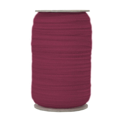 Wine 5//8in Wide 100 Yard Spool-Fold Over Elastic FOE -Headband -Girl -Baby