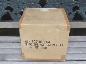 NEW-Wolfgang-Puck-3-Piece-Non-Stick-Springform-Pan-Set-Cake-Tin-HSN-NIB