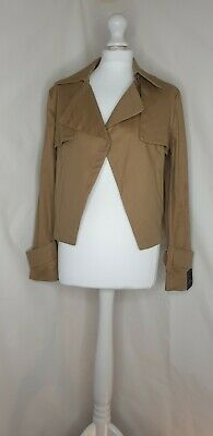 Tan Short Trench Coat Jacket Size Uk 8 Next Smart Casual Work Summer Attractive Appearance