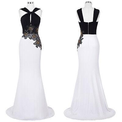 Damen Lang Ballkleider Cocktail Partykleid Abendkleid Hochzeitskleid Gr:32-46